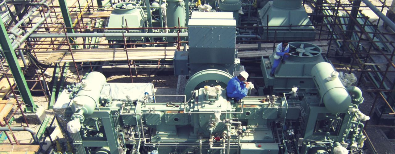 Installation of reciprocating compressors of Sar Khun Refinery